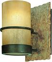 "Troy Bamboo 6"" Bathroom Vanity Light in Bamboo Bronze Natural Slate"
