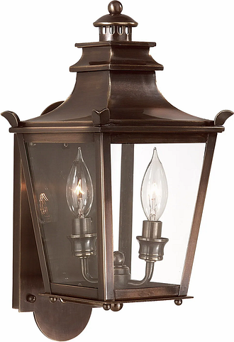 """Troy Dorchester 2-Light 16"""" Outdoor Wall Light in English Bronze"""