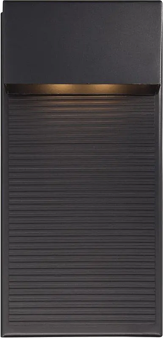 Modern Forms Hiline 1-Light Outdoor Wall Light in Black
