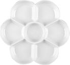 Palette en plastique en forme de fleur 7 trous peinture plat plateau Palettes de mélange pour huile acrylique aquarelle Gouache