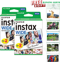 Genuine Fujifilm Instax Wide Edge 40 Photos White Sheets For Instant Photo Paper Camera Instax Wide 200 210 300 with Album