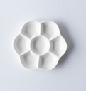 Fleur ronde Palette en céramique pour aquarelle Gouache peinture prune fleur Palette Art fournitures