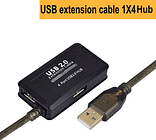 Active 5m 10m USB 2.0 Extension Hub USB 2.0 Hub with long cable for PC laptop and more