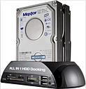 """HBUDS 2.5""""/3.5"""" IDE SATA HDD Docking Station +Card Reader Hub (black)"""