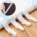 4PCS Adjustable Sheet Grippers Bed Clothes Buckle Clips