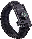 ZHISHUNJIA 5-in-1 Multipurpose Emergency Hand Rope Survival Bracelet for Outdoor Camping Travel