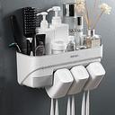 Multifunctional Toothbrush Holder Rack Set with Mouthwash Cup