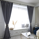 Premium Solid Light Blocking Curtain, Polyester Thicken Full Shade Curtain For Home Bedroom