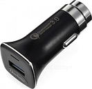 Quelima 2-in-1 QC3.0 Quick Charge Car Charger with Safety Emergency Hammer - Black