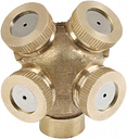 Garden Brass Spray Misting Nozzle 4-Hole Sprinklers Fitting Hose Water Connector High Quality Spray Nozzle