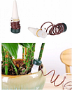 2PCS Flower Potted Plants Automatic Watering Device Drip Irrigation Device Creative Household Garden Tools Green