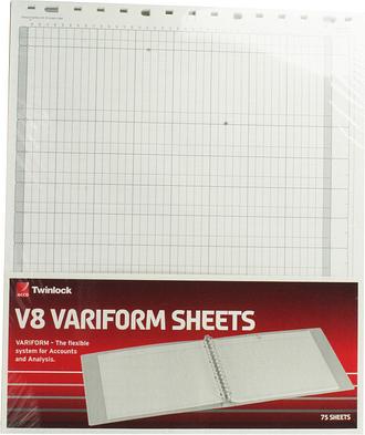 Variform V8 10column Cash Refill 75982
