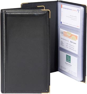 Goldline Business Card Holder Black