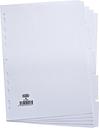 Elba Card Divider A4 5-Part 160gsm White