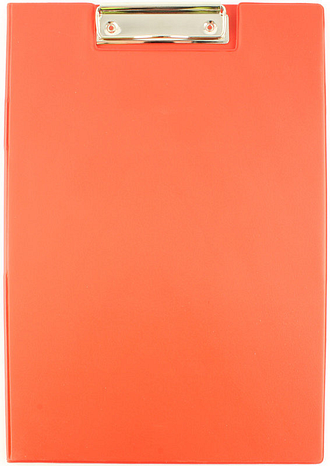 Q Connect Pvc Clipboard Foldover Red