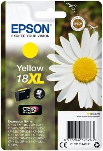 Epson 18XL Yellow Inkjet Cartridges