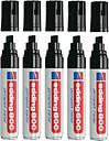 Edding 800 Extra Large Chisel Tip Permanent Black Marker (Pack of 5) 8
