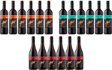 Six Yellow Tail Wine Pinot Noir, Malbec or Merlot Bottles