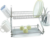 One or Two Jocca Stainless Steel Dish Drainers