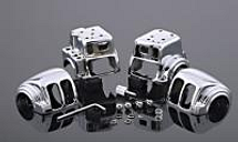 V-Twin Manufacturing Chrome Switch Housing Set