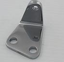 V-Twin Manufacturing Chrome Bracket for Rear Upper Belt Guard
