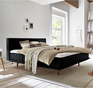 Minimum Collection Boxspringbett Ito Black 160x200 H4 Kaltschaumtopper waschbar Vertikalsteppung