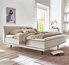 Minimum Collection Boxspringbett Piano Khaki 180x200 H2 Naturlatex Topper waschbar Glatt