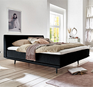 Minimum Collection Boxspringbett Piano Black 200x200 H2+H4 ohne Topper Glatt