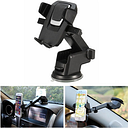 Car Phone Holder Dashboard Sucker Mount Extension Type Cradle For 3.5-6.5inch Mobile GPS