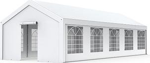 Tente de réception - Chapiteau 4x10m en PE 180g/m² blanc