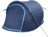 Tente de camping imperméable pour 2 personnes bleu-marine / bleu-clair