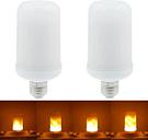 2PCS SMD2835 bombillas de efecto parpadeante llama LED