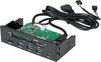 "Sunshine-tipway STW 5,25 ""Lector de tarjetas interno Media Tablero multifunción PC Panel frontal Tipo-C USB 3.1 USB 3.0 Soporte CF MD XD MMC TF M2 MS"