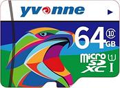 yvonne Micro SDHC TF Tarjeta de memoria flash Almacenamiento de datos 64GB Velocidad rápida