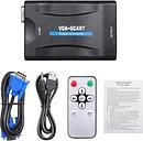 VGA a Scart Converter Video Audio Converter Adaptador de video 1080P para TV y proyector