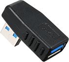 Adaptador USB 3.0 Conector acoplador del adaptador de ángulo recto macho a hembra de ángulo recto - Paquete de 1