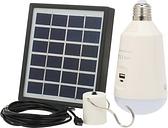Bombilla LED 7W E27 recargable con energía solar