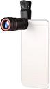 8X Zoom Optical Smartphone Teleobjetivo Lente Telescopio Portátil Teléfono Móvil con Clip Universal para iPhone Samsung HUAWEI Xiaomi HTC La mayoría de los Teléfonos