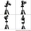 Andoer cámara cabeza solución fotografía estudio cámara trípode Z Pan & Tilt inclinación cabezal de aleación de aluminio de la flexión