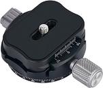 Andoer PAN-C1 adaptador de abrazadera de cabeza de trípode panorámica Aleación de aluminio con placa de liberación rápida para Arca-Swiss COMO placas estándar QR