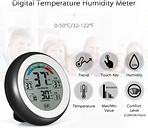 ° C / ° F Digital termómetro higrómetro humedad de la temperatura del medidor Max Min Valor Pantalla de tendencias