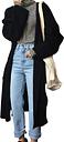 Abrigo largo de rebeca de gran tamaño para mujer