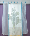 Anself 80 * 140 cm Pastoral gasa cortinas de tul Top Tab visillo persianas romanas para el dormitorio ventana de la puerta de la decoración