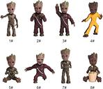 Guardianes de la Galaxia vol. 2 Lovely Tree Man Groot Llavero Cute Baby Grunt Llavero Figura de Acción Colgante Groot Ornamento