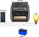 Regulador de carga del regulador de la carga de Anself 20A 12V / 24V Solar para la protección de la sobrecarga de la batería del panel solar