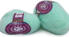 Un Skein Mohair tejer a mano hilo suave digitación bebé fino lana crochet hilos bufanda delicado suave mujeres bebé ropa estilo 1