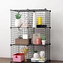 Black Organizing Bookrack Simply Construted Malla de alambre de acero Store Cube Storage Rack