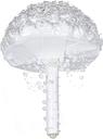18cm Perlas Artificiales hechas a mano de la Boda Nupcial Ramo de Rose Flor de Satén para Novia Suministros de Boda - Beige