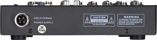 Mezclador portátil de audio de 4 canales con línea de micrófono