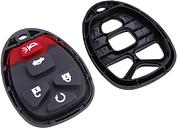 Nuevo Pad + botón para GM Remote Shell sin llave clave Fob caso